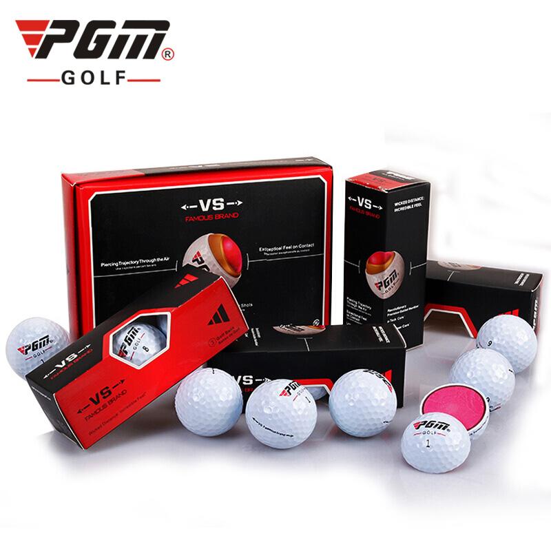 [Hàng Auth - Chọn màu] Q017 Bóng Chơi Golf Lõi Kép - PGM 3 Layers Golf Ball Set